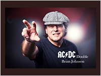 Autogrammkarte AC/DC Brian Johnson Thumb